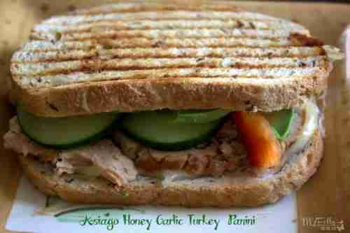 Asiago Honey Garlic Turkey Panini
