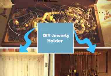 DIY Jewelry Holder - easy to make and inexpensive/ Daily Dish Magazine #DIY #jewelry