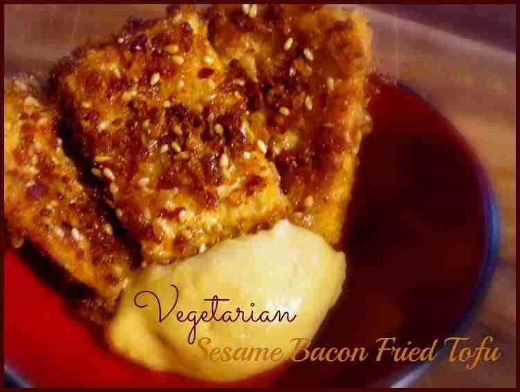 Vegetarian Sesame Bacon Fried Tofu ~ Meatless Monday