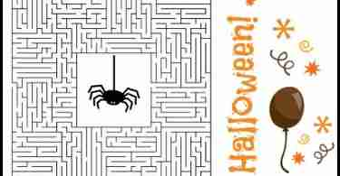 Free Halloween Printable Puzzles ~ Maze