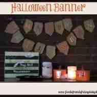 Halloween Burlap Banner #halloweencraft #halloween #burlap