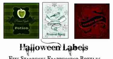 Free Halloween Bottle Labels Printable