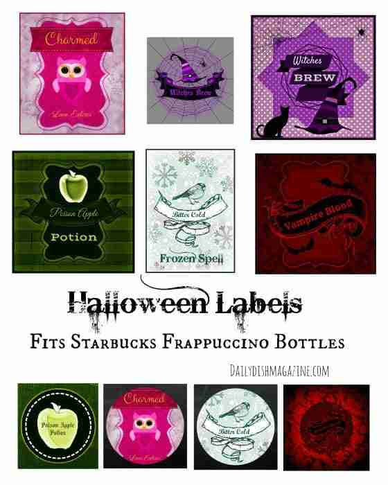 Free Halloween Bottle Labels Printable