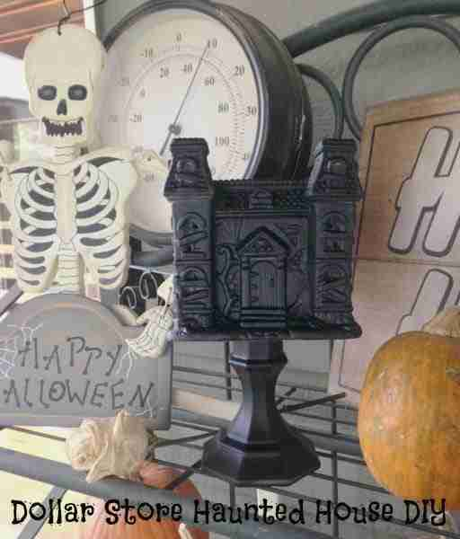 Easy Haunted House ~ Dollar Store Halloween Crafts