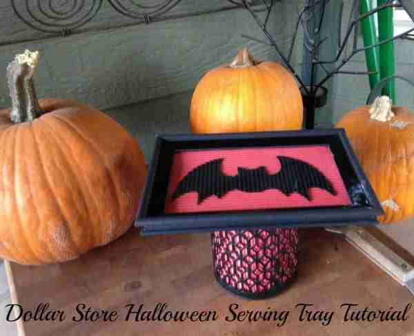 Halloween Serving Tray ~ Dollar Store Halloween Crafts