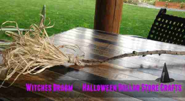 Easy Witches Broom ~ Dollar Store Halloween Crafts