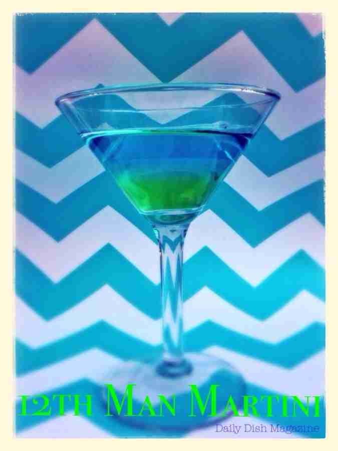 12th Man Martini for Seahawks Game Day!