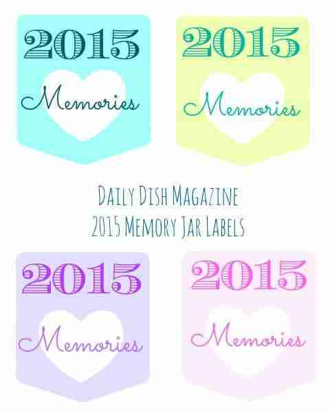 Memory Jars 2015 Free Printable Labels