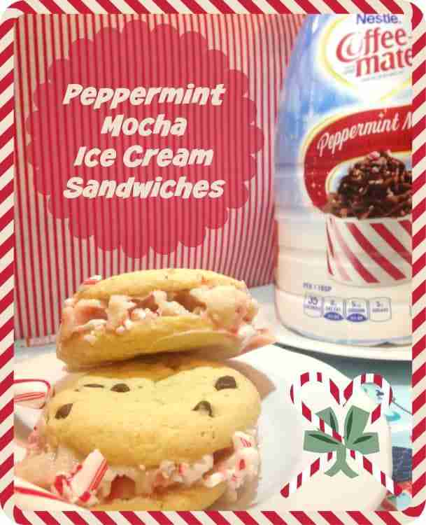 Peppermint Mocha Ice Cream Sandwiches