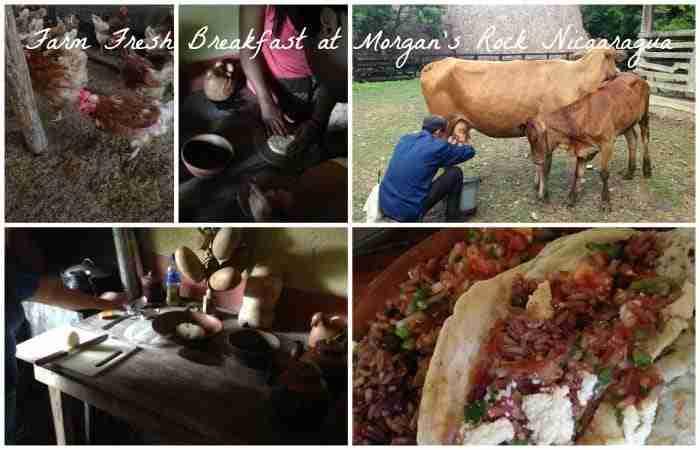 Farm Fresh Breakfast at Morgan's Rock Nicaragua