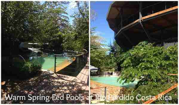 Warm Spring Fed Pools at Rio Perdido Costa Rica