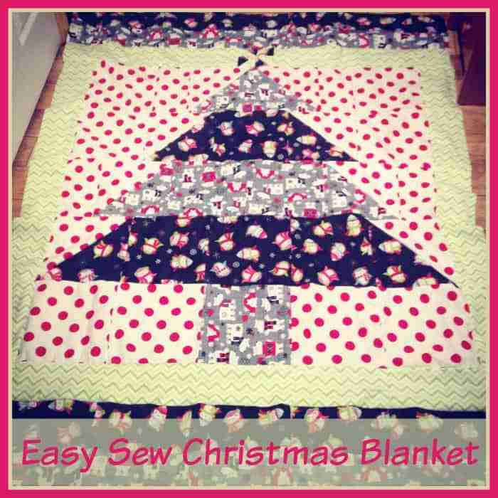 Easy to Sew Christmas Blanket Free Pattern