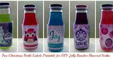 Free Christmas Bottle Label Printables