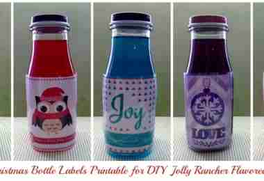 Free Christmas Bottle Label Printables