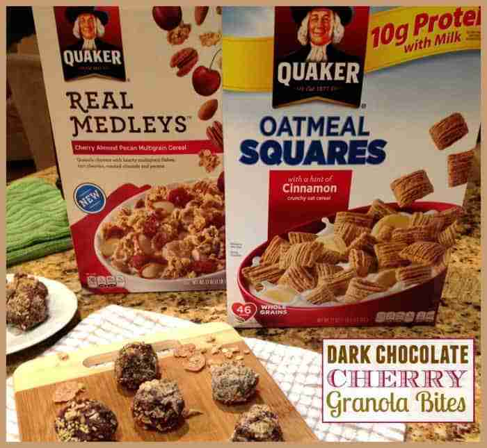 Dark Chocolate Cherry Granola Bites Cereal