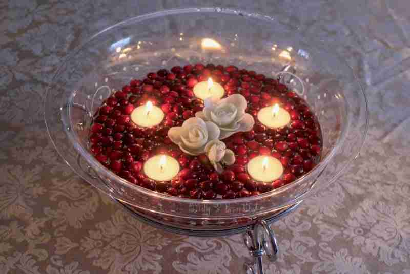 Decorating with Cranberries