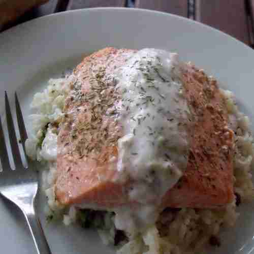 Salmon with Tiger Dill horseradish Sauce (500x500)