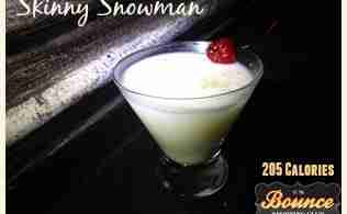 Skinny Snowman Cocktail Recipe ~ Only 205 Calories!