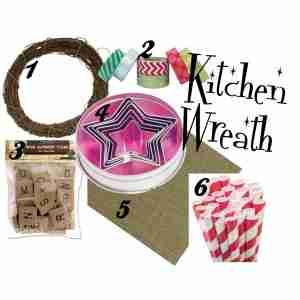 Kitchen Wreath for Christmas/ Daily Dish Magazine