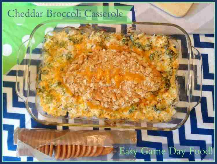 Cheddar Broccoli Casserole Topped with Ritz!