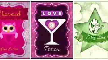 Free Printable Valentines Bottle Labels