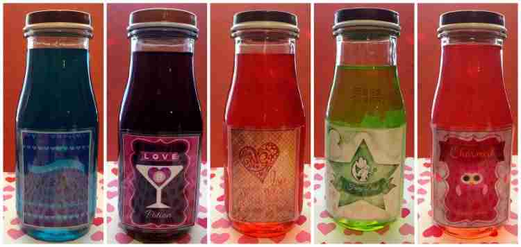 Free Printable Bottle Labels for Valentines Day