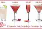 4 Romantic Pink Cocktails for Valentines Day