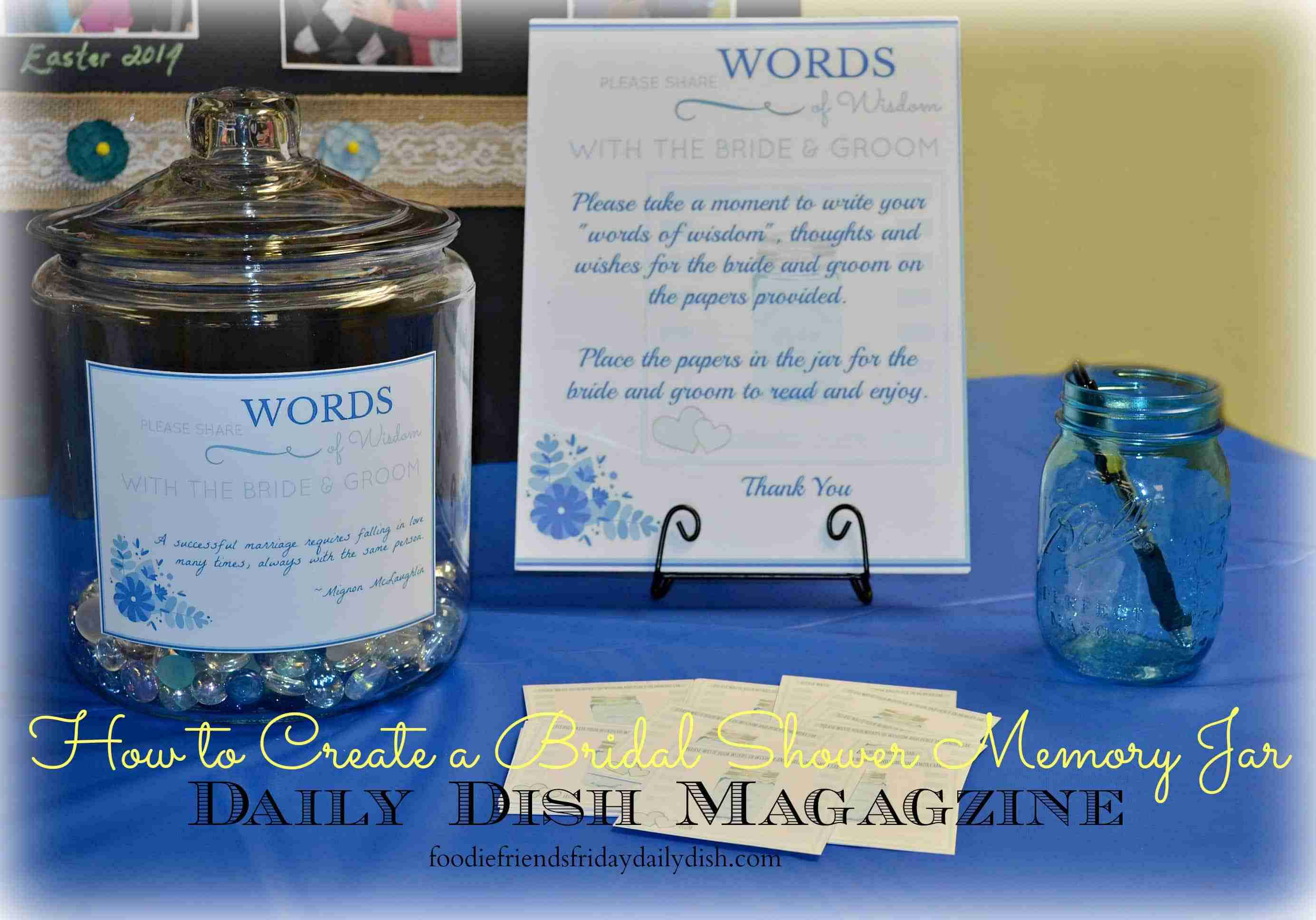 Memory Jars for a Bridal Shower with Printables | Daily Dish Magazine ...