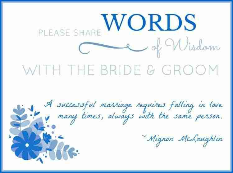 Wedding Words of Wisdom Memory Jar Label