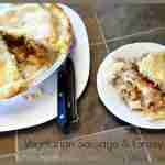 Vegetarian Sausage and Gravy Pot Pie | #SoySwaps