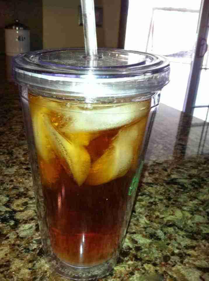 fresh brewed iced tea