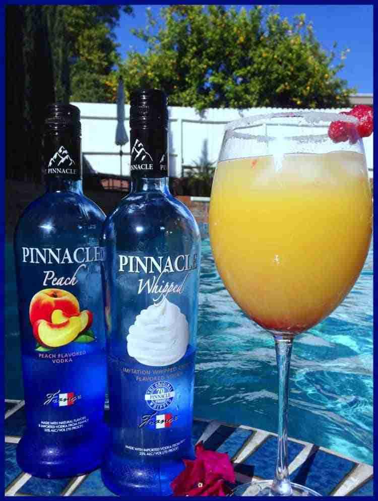 Peachy Keen Pinnacle Vodka Mimosa