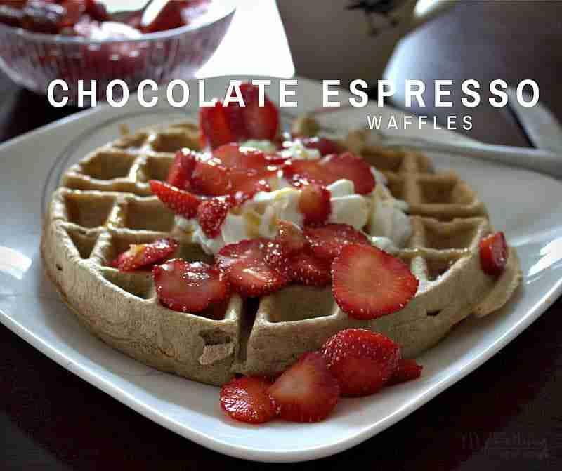 Chocolate Espresso Waffles