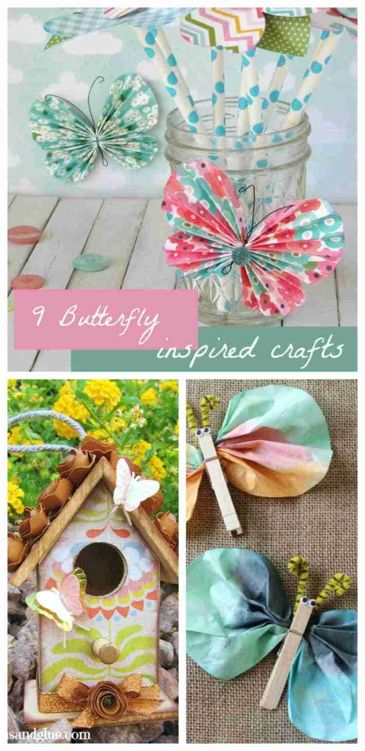 9 Beautiful Butterfly Crafts