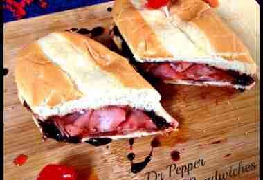 Cherry Dr Pepper Glazed Ham Sandwiches