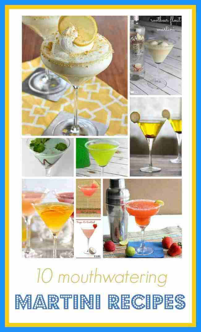 10 Mouthwatering Martini Recipes