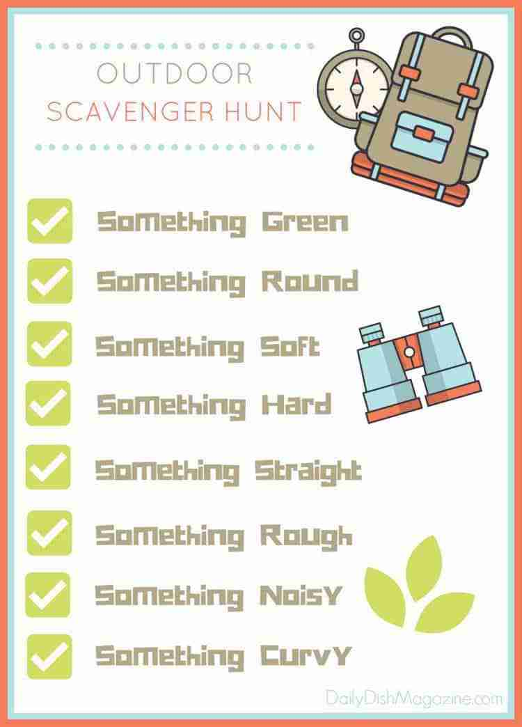 Outdoor Scavenger Hunt Free Printable!