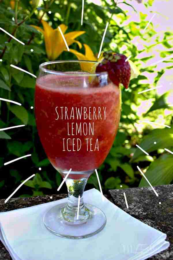 Strawberry Lemon Ice Tea / Daily Dish Magazine