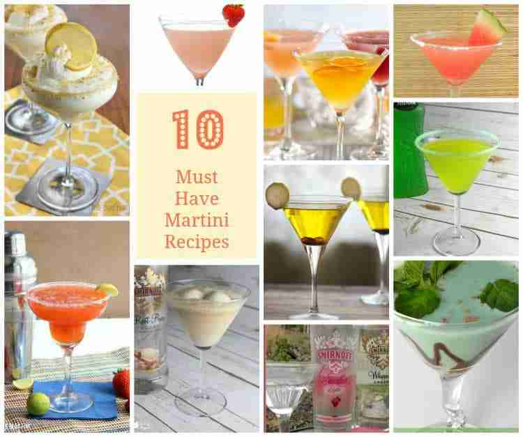 10 Must Have Martini Recipes
