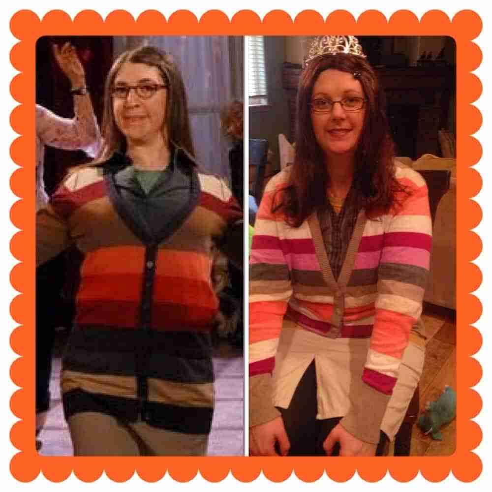 Thrift Shop Costume Idea - Amy Farrah Fowler
