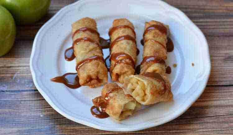 caramel-apple-egg-rolls-slider