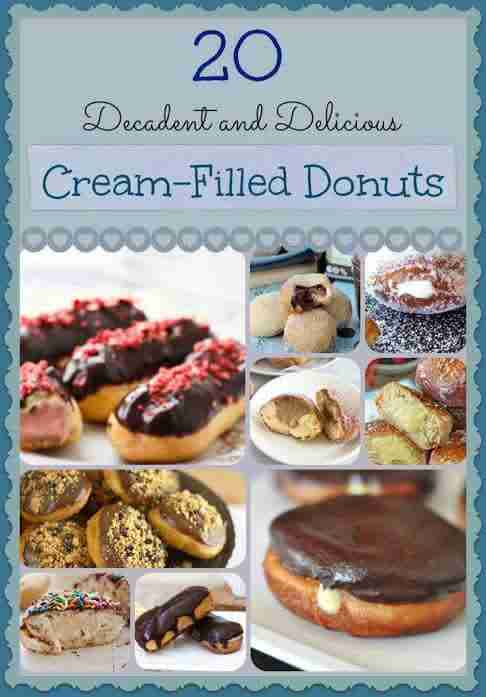 20 Cream Filled Donut Recipe for National Cream Filled Donut Day - September 14