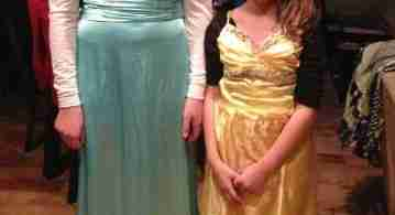 Thrift Shop Halloween Costumes - Elsa & Belle