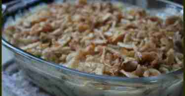 Cheesy Onion Green Bean Casserole Recipe