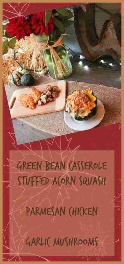 Green Bean Casserole Stuffed Acorn Squash