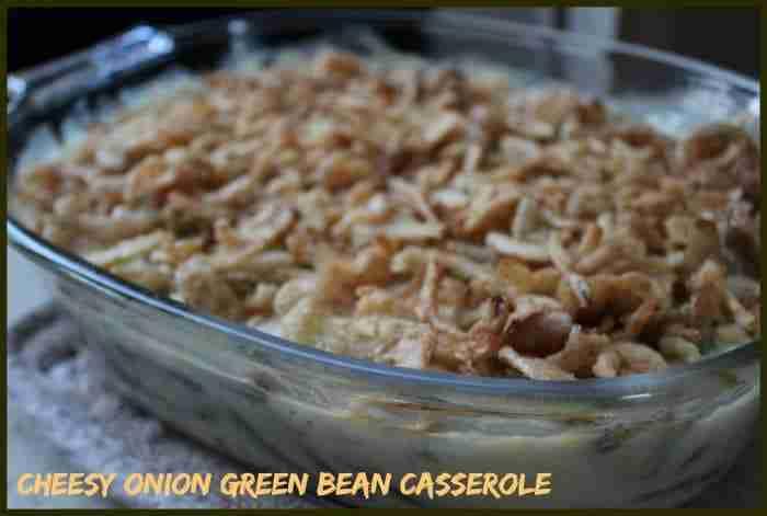Cheesy Onion Green Bean Casserole Recipe