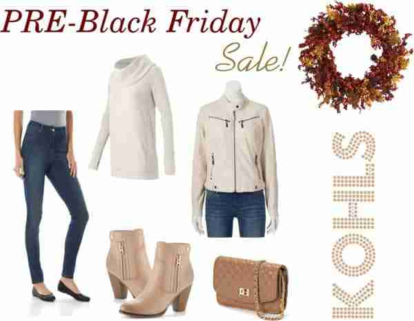 Kohl's PRE-Black Friday Sales Event! Get an additional 20% OFF Sale Prices!