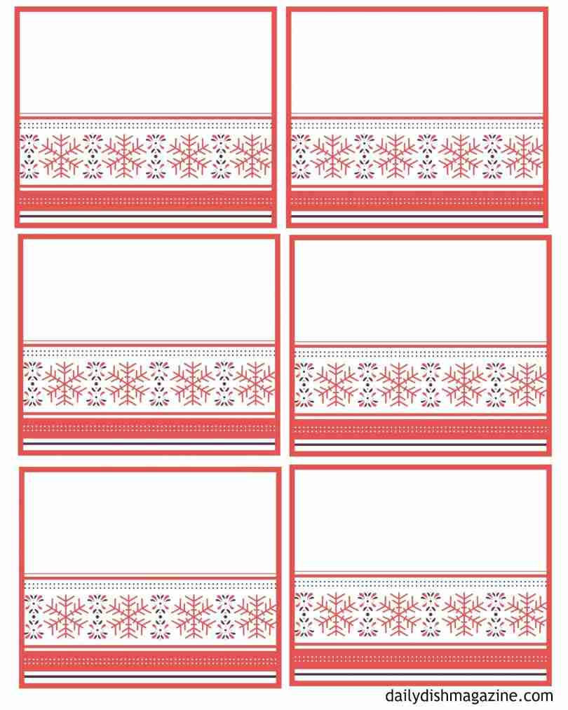 Christmas Memory Jar Label & Writing Pages Free Printables