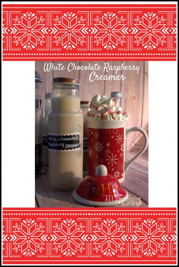 Make your own coffee creamer - White Chocolate Raspberry Creamer