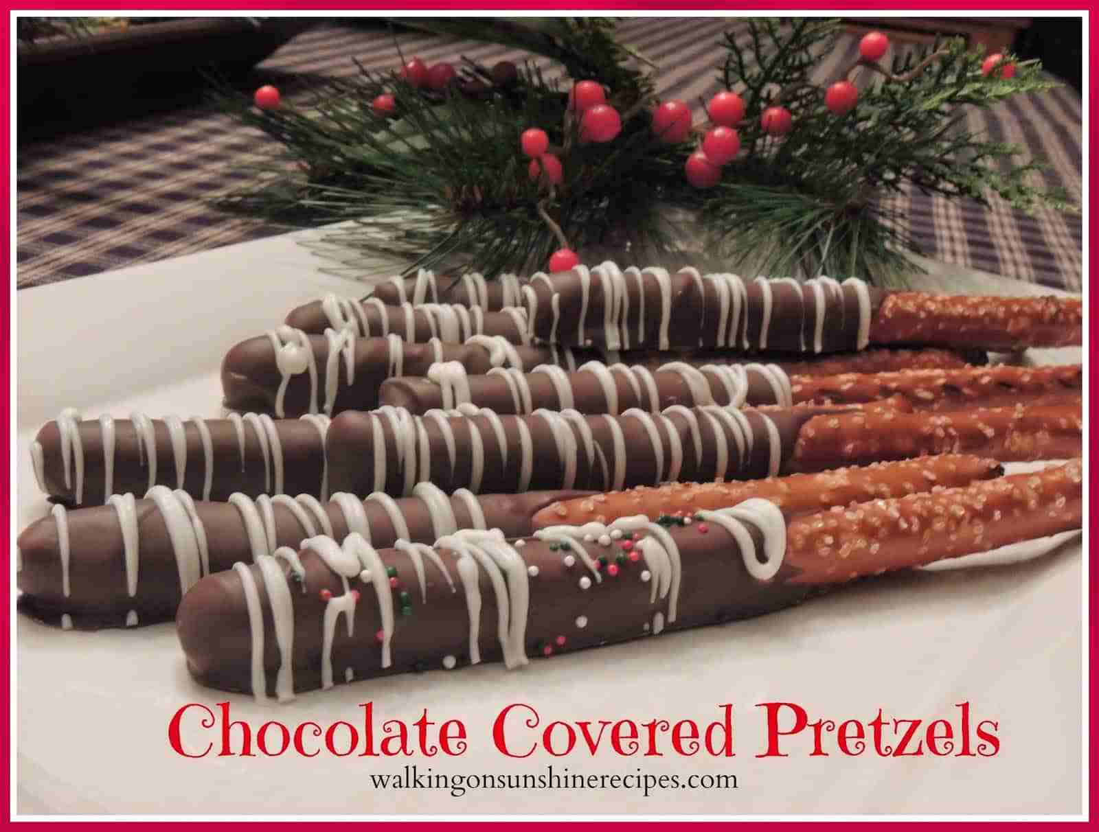 chocolate covered pretzels promo